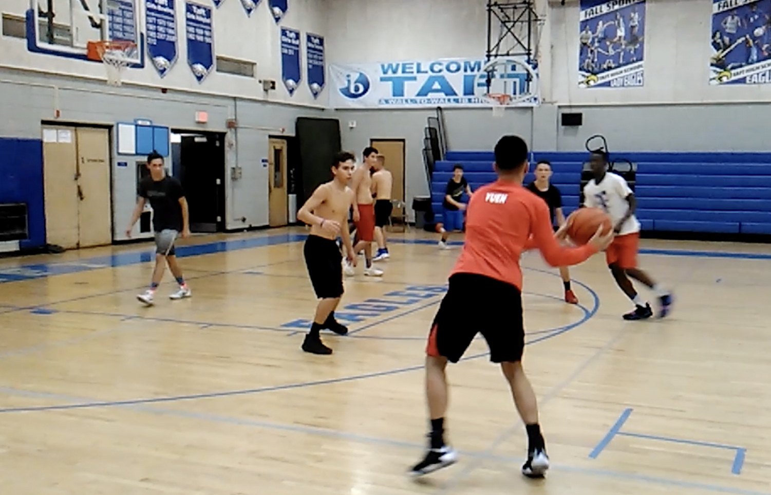 Students engaging in open gym.