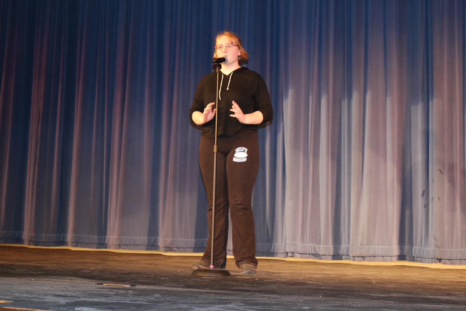 Alexandra Fraze at this years Poetry Out Loud competition