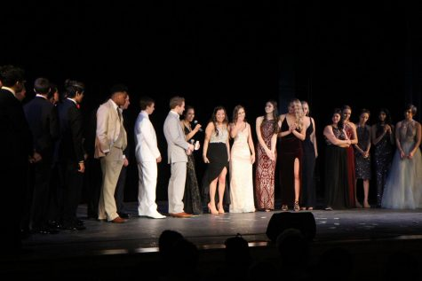 Seniors Participate In NHS Run Prom Fashion Show