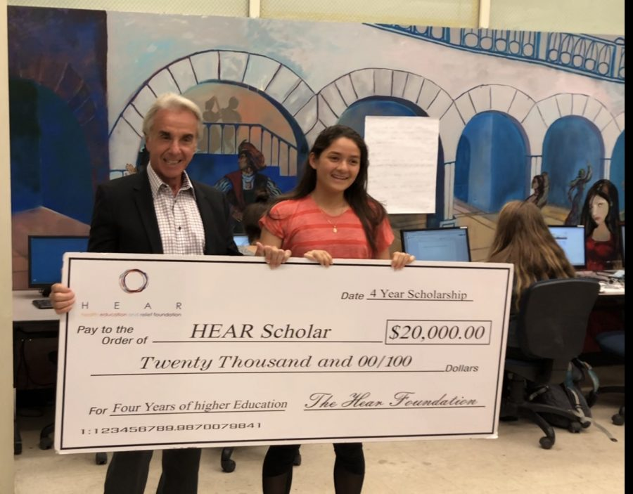 HEAR Foundation Surprised Senior Jacqueline Mendoza With $20,000 Scholarship