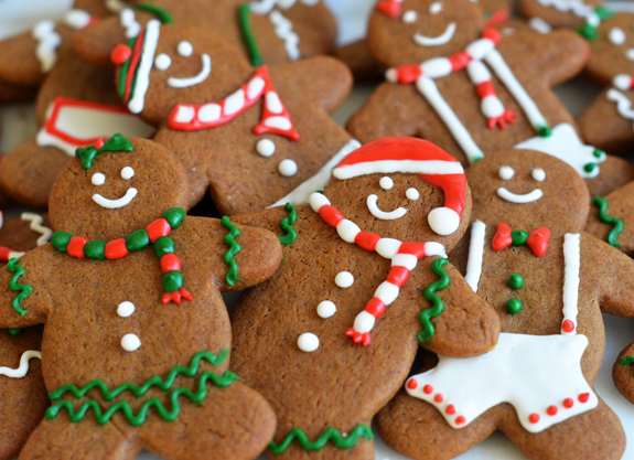 An example of holiday cookies made to get in the Christmas spirit.