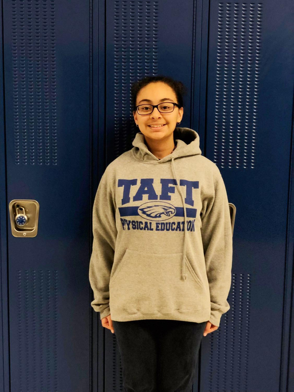 Eighth grader Hailey Sandoval is excited to switch things up at the new Taft High School Freshman Campus.