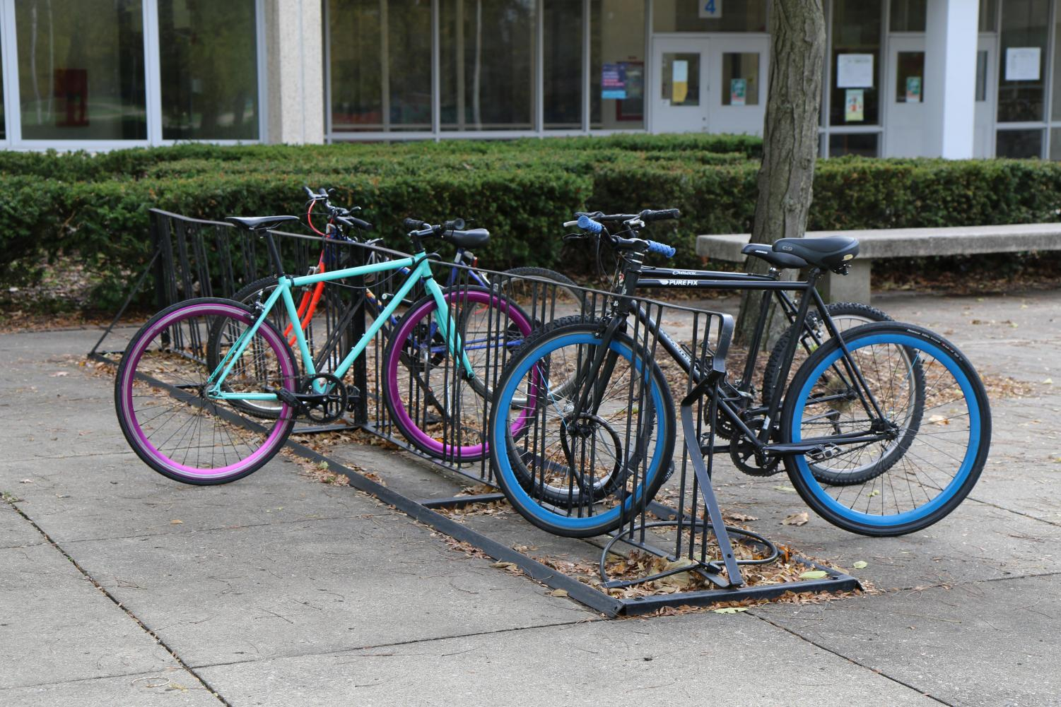 Taft bike racks at the front entrance near door 4 are going to be installed for any eagles biking to school when the warm weather comes again.
