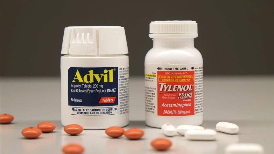Advil and Tylenol are the two most commonly used pain relievers in the market. Photo provided by https://www.wsj.com/articles/advil-vs-tylenol-which-to-use-and-when-1431364490