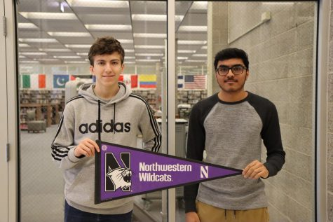 Both Patel and Metz are excited for their bright futures at Northwestern. Photographer Yasmine Soria.