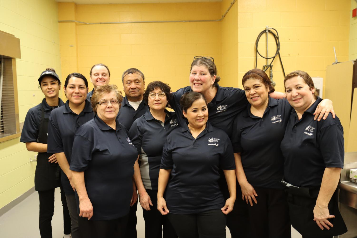 Baird and her staff work hard to serve and feed the kids of Taft. Not pictured: Jose Santana. Photo by Yasmine Soria.