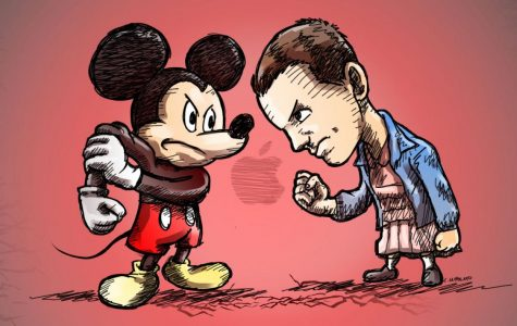 Tensions arise between the two popular streaming services, with Disney+ seeming to rise to the top.   Image by https://www.boldbusiness.com/communications/netflix-vs-disney/