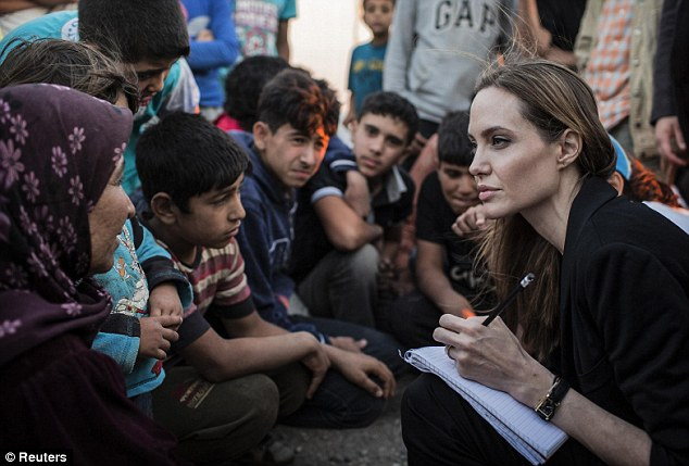 In 2003, actor and social influencer Angelina Jolie received the first ever Citizen of the World Award from the United Nations Correspondents Association for her contributions to helping refugees. Source https://www.indiatimes.com