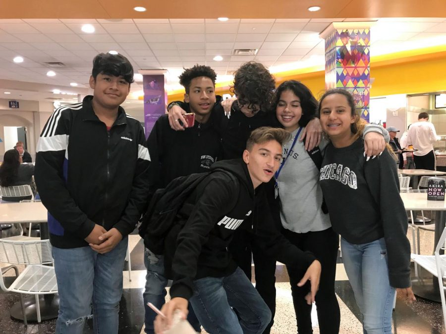 TFA students hang out at the HIP often, buying food at the food court and spending time with their friends.