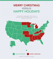 An analysis of geotagged Twitter data, based on a 300,000 tweet sample, to determine which holiday greeting is the most popular in each state. Photo by https://www.treetopia.com